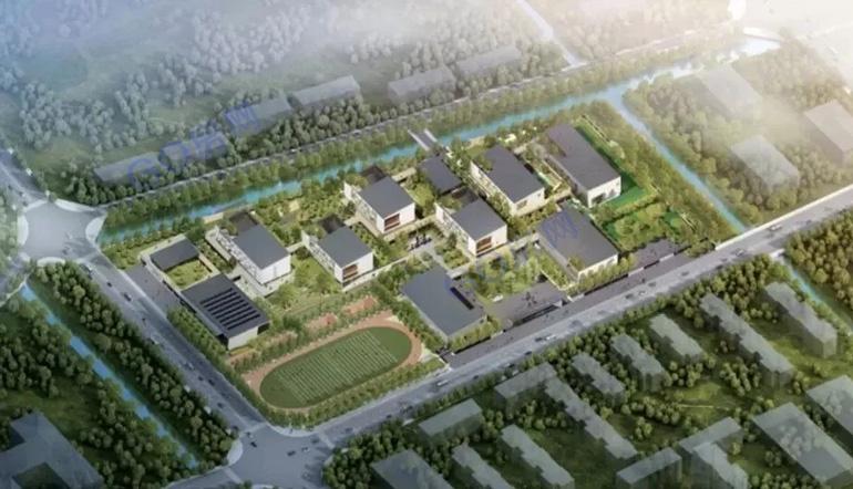 北京师范大学盐城附属学校小学幼儿园部鸟瞰(效果图)